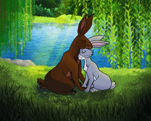 Campion and Blackberry - Watership Down by Book-Nose