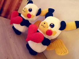 Pikachu Panda Amigurumi by Marik0