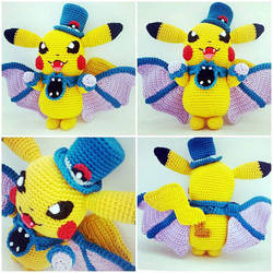 Pikachu Halloween Edition Amigurumi (Pattern+Doll) by Marik0