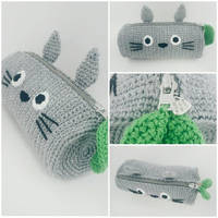 Totoro Crochet Pencil Case -PDF + Finished product by Marik0