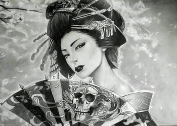Geisha Drawing by Marik0