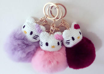 Hello Kitty Keychains by Marik0