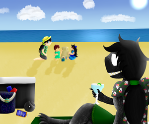 obligatory beach episode by TheSaturnianWildcat