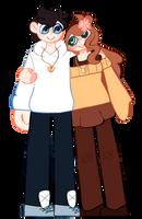+comm+ Clyde and Hannah by KittySquid307