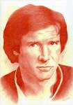 Harrison Ford as Han Solo by ClaraDarko