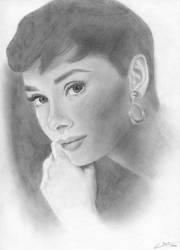 Audrey Hepburn by ClaraDarko