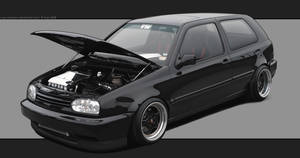 Black VW Golf by Cop-creations