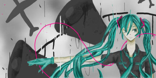 Miku Hatsune Love is War by orangndesobanget