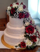 Sarah's Wedding Cake by CarnalClown