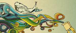 rainbow whale by gduch