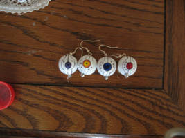 GLaDOS core earrings by Wolf-Shadow77