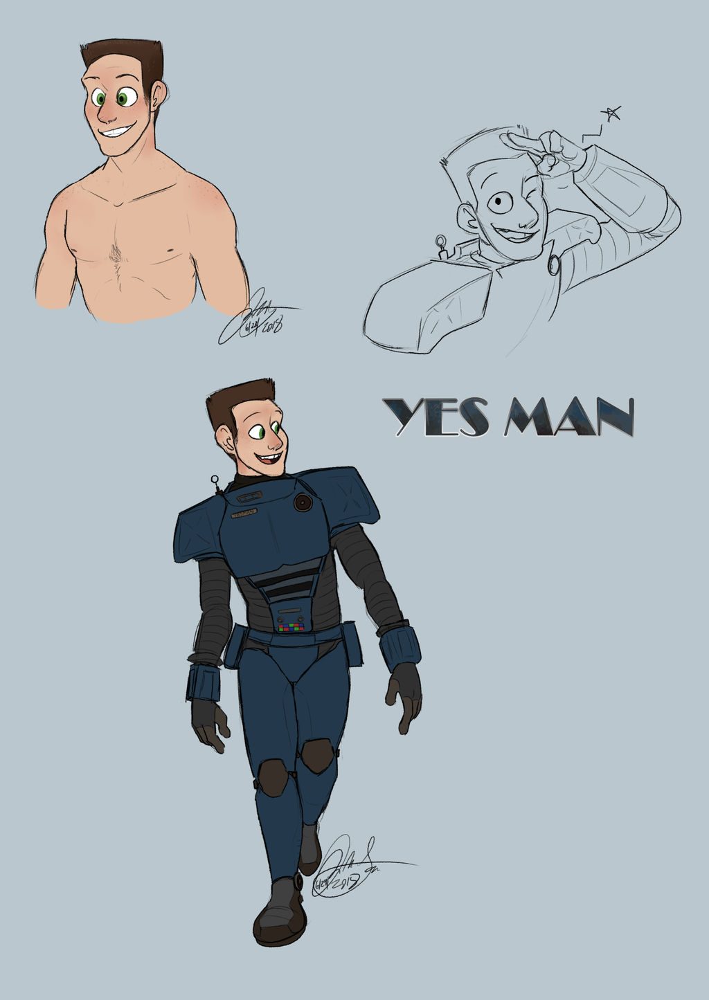 Synth Yes Man by Wolf-Shadow77