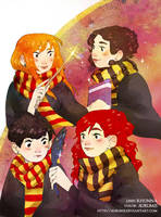 .: Hufflepuff y Gryffindor Friends :. by Aurumis