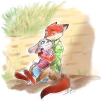 [Zootopia] Hug by THE-L0LLIP0P