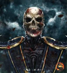 Unmasked Scorpion (Mortal Kombat 9 version) by flavioluccisano