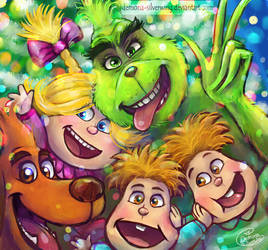 The Grinch Fam Photo by Demona-Silverwing