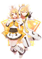 Happy Birthday Kagamine Twins! by DumplingYumYum