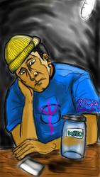 saaaaaaad stoner :( by zettrob