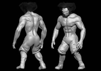 Wolverine in progress by Neverwinterdragon