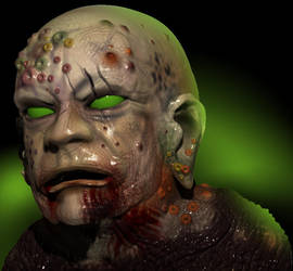 Zombie Sculp by Neverwinterdragon