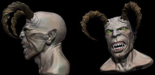 Demon Goat sth by Neverwinterdragon