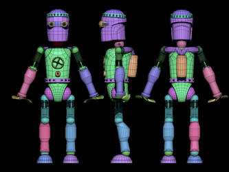 Hydro-bot wireframe by Neverwinterdragon