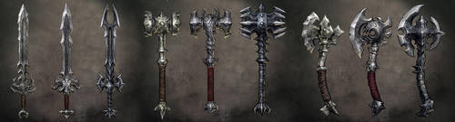 overlords weapons by michalivan