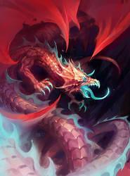 red-blue dragon by michalivan