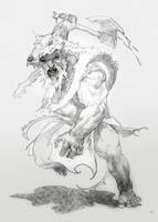 wolfskin-sketch by michalivan