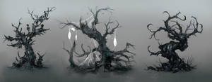 undead trees by michalivan