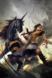 black unicorn by michalivan
