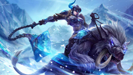 Sejuani, the Winter's Wrath by michalivan