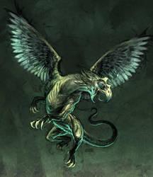 gryfon creature by michalivan