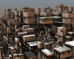Avengium Fractal city in modern times II by Avengium
