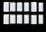 Numeros Cogi 0-11 (base 12) 2x3x2 Plantilla by Avengium