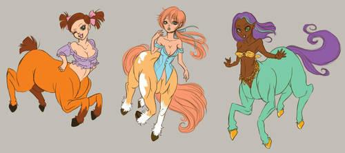 Female Centaurs by Avengium