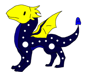Night Dragon Hatchling by Hippie30199-adopts 01 by Avengium