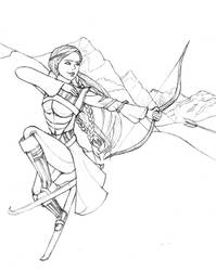 Request: Paidi as Skadi by MiladyDuchess