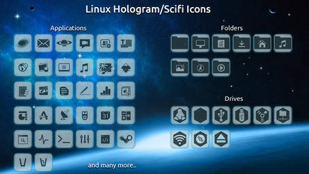 Hologram/Scifi Icon Theme Preview 2 by scifidude5022