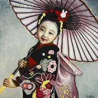 Girl With An Umbrella by Hiki-Hiki