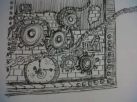 Steampunk Sketch, WIP by xxtayce