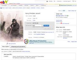 Harry Dresden: Sold on EBay by xxtayce