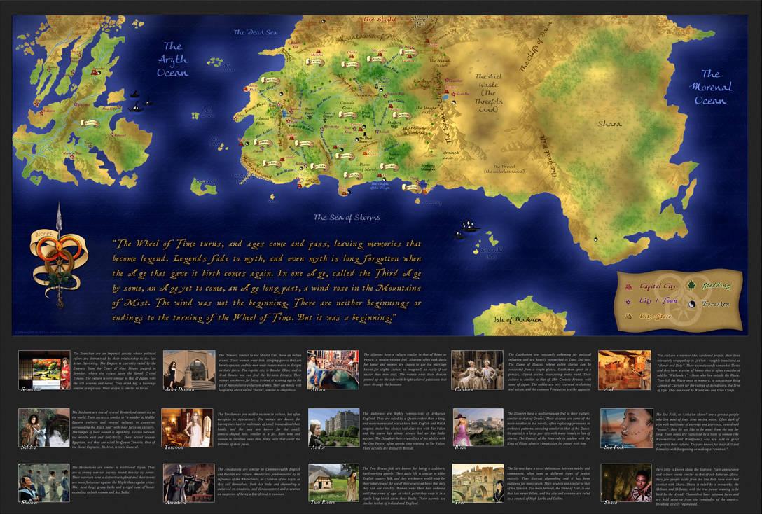 Wheel of Time Map (FINAL) by xxtayce on DeviantArt