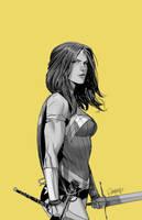 Wonder Woman Yellow by Dan-Mora