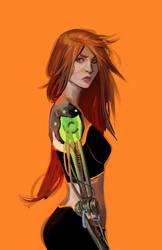 Orange_girl by Dan-Mora