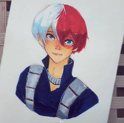 Todoroki Shouto by cyucumber
