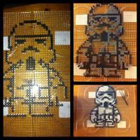 Perler beads Stormtrooper Star Wars by L000lz