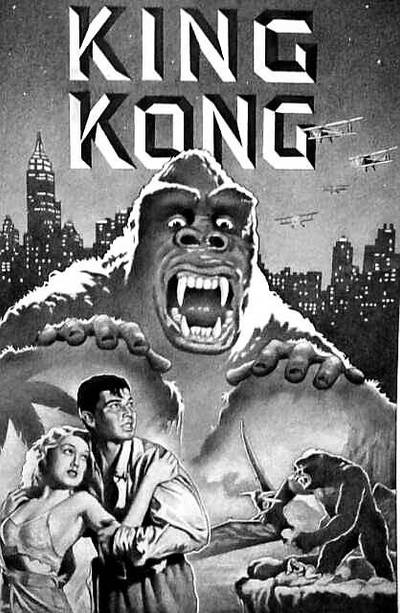 KING KONG in Glorious Black  White by casey62