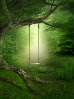 UNRESTRICTED - Forest Swing Background by frozenstocks