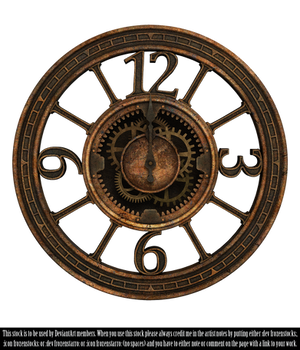RESTRICTED - Steampunk Clock II Render by frozenstocks